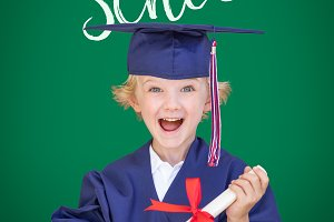 Young Boy In Cap and Gown