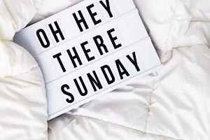 Oh hey Sunday!