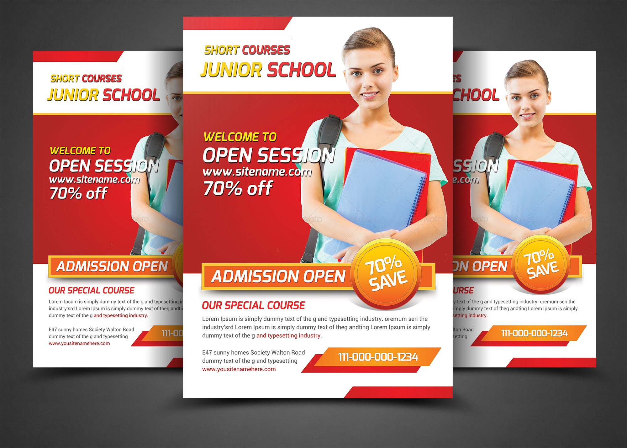 school education flyers template flyer templates creative market