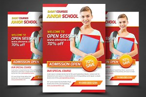 School Education Flyers Template