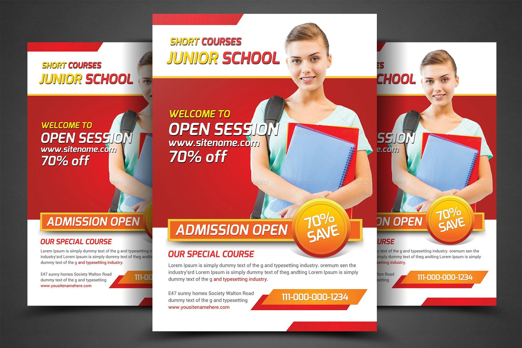 School Education Flyers Template Flyer Templates Creative Market Pro