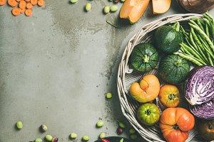 Healthy vegetarian seasonal Fall