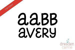 Avery Hand-Drawn Font