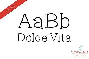 Dolce Vita Hand-Drawn Font