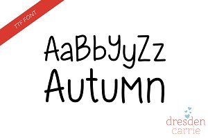 Autumn Hand-Drawn Font