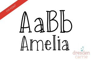 Amelia Hand-Drawn Font