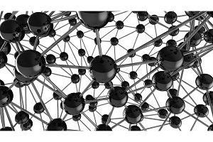 black Molecular geometric chaos