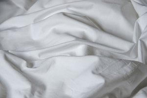Bed sheet crumpled