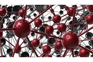 black and red Molecular geometric