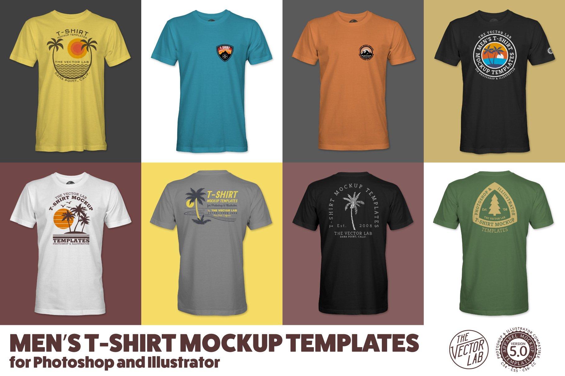 Mens T Shirt Templates Version 50 Product Mockups Creative Market