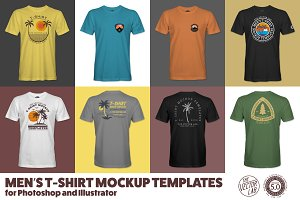 Men's T-Shirt Templates Version 5.0