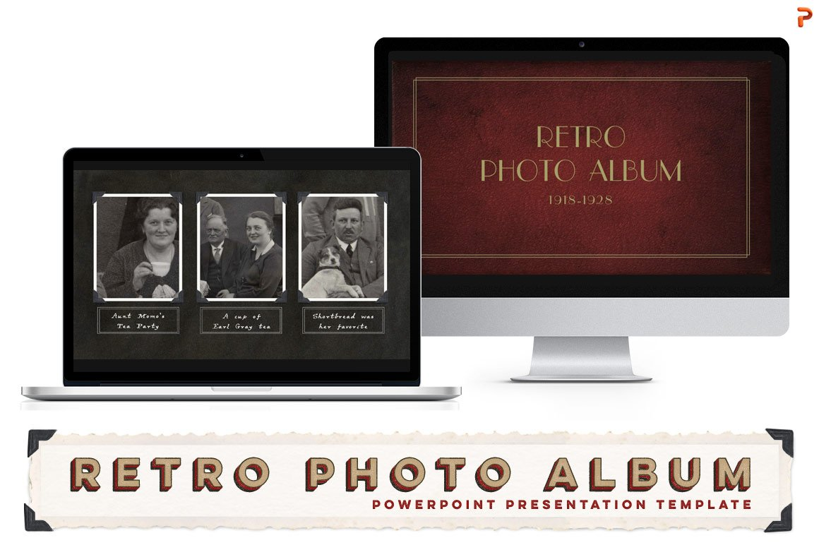 Retro photo album ppt template presentation templates creative retro photo album ppt template presentation templates creative market toneelgroepblik Images