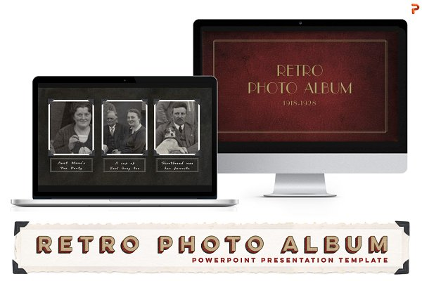 SALE Retro Photo Album PPT Template