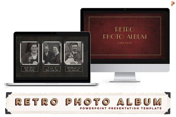 Retro Photo Album Ppt Template Presentation Templates Creative