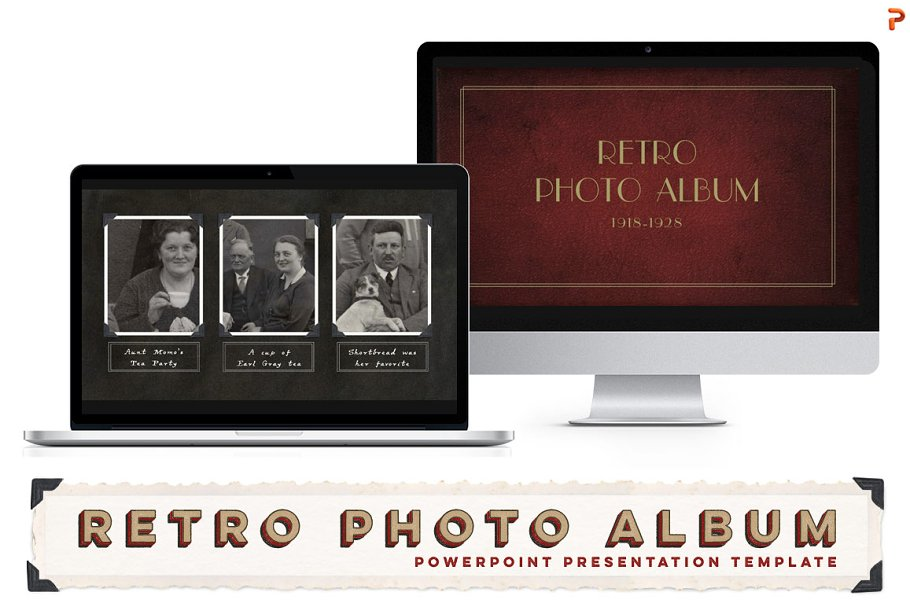 Retro Photo Album Ppt Template Powerpoint Templates Creative Market