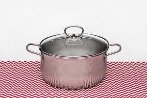 Modern silver pot.