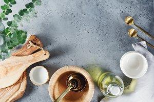 Modern kitchen utensils
