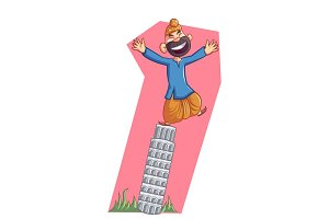 Sardar On The Leaning Tower Of Pisa