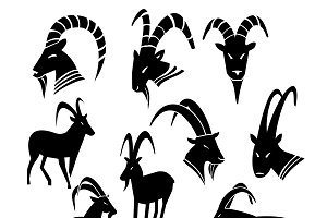 Wild Goat Silhouettes Collection