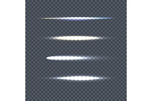 Set of Vector Light Line on