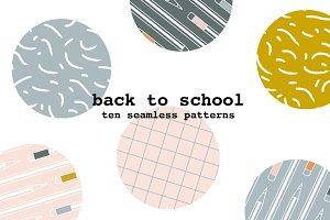 back to school pattern ten pack