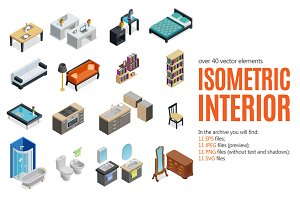 Isometric Interior Set