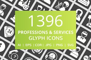 1396 Professions & Services Icons