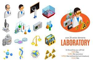 Scientific Laboratory Isometric Set