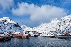"""A"" village on Lofoten Islands"