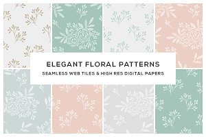 Floral Seamless Web Titles & Papers