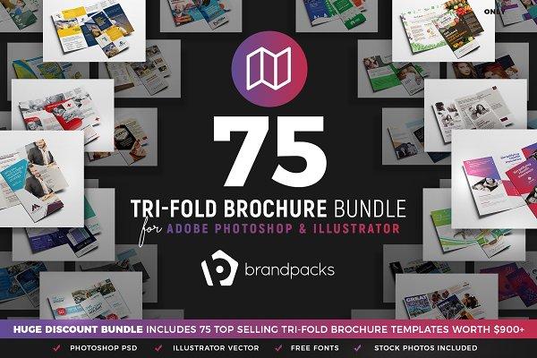 75 Trifold Brochure Templates Bundl…