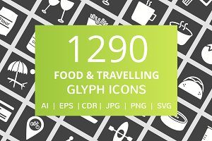 1290 Food & Travelling Glyph Icons