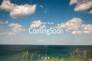 Seas -  Coming Soon HTML Template