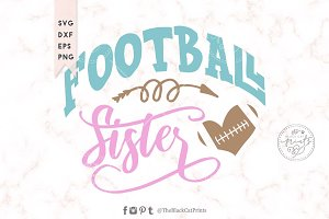 Football Sister SVG DXF EPS PNG