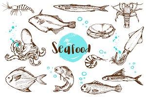 Vintage Vector Seafood