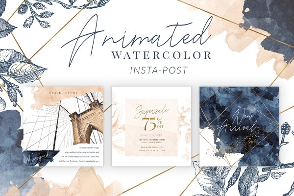 ANIMATED Instagram Watercolor POST