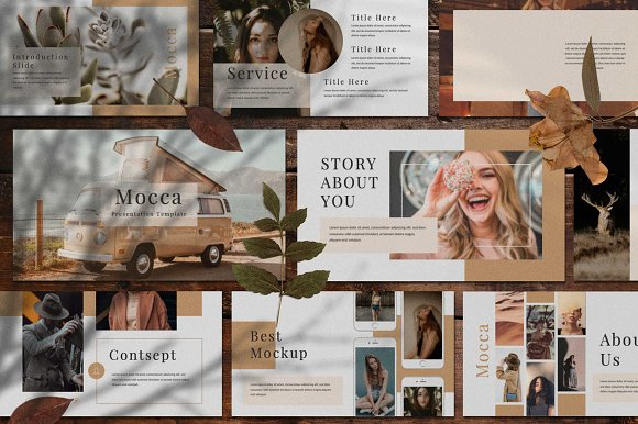 mocca powerpoint template presentation templates creative market