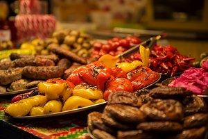 Grilled food at street market