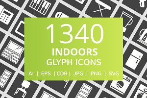 1340 Indoors Glyph Inverted Icons
