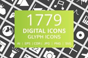 1779 Digital Glyph Icons