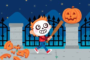 Trick or Treat? illustration Clipart