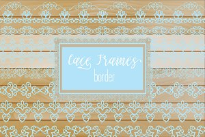 № 277 Light Blue Lacy Borders
