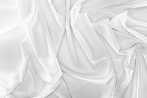 close up view of white soft silk fab