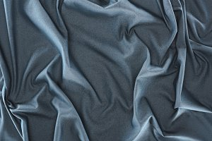 close up view of crumpled dark blue