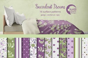 Purple Floral Papers AMB-1273