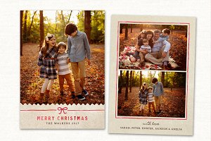 Christmas Card Template CC0156