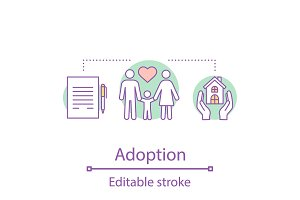 Adoption concept icon