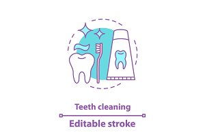 Teeth cleaning concept icon