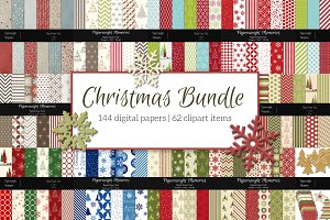 Christmas Bundle - Papers + Clipart