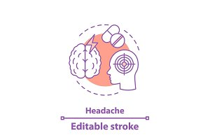 Headache concept icon